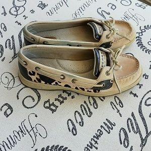 LEOPARD SPERRY TOP SIDER SHOES 6.5